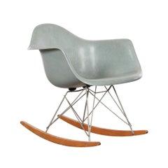 Eames Sea Foam Green Rar Herman Miller USA Rocking Chair, 1950s