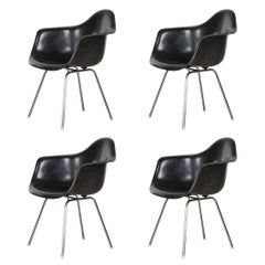 Charles and Ray Eames Black Dax Dining Chair for Herman Miller