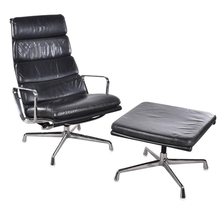 Eames EA222 And EA223 Lounge Soft Pad Herman Miller Vitra Chair At 1stdibs