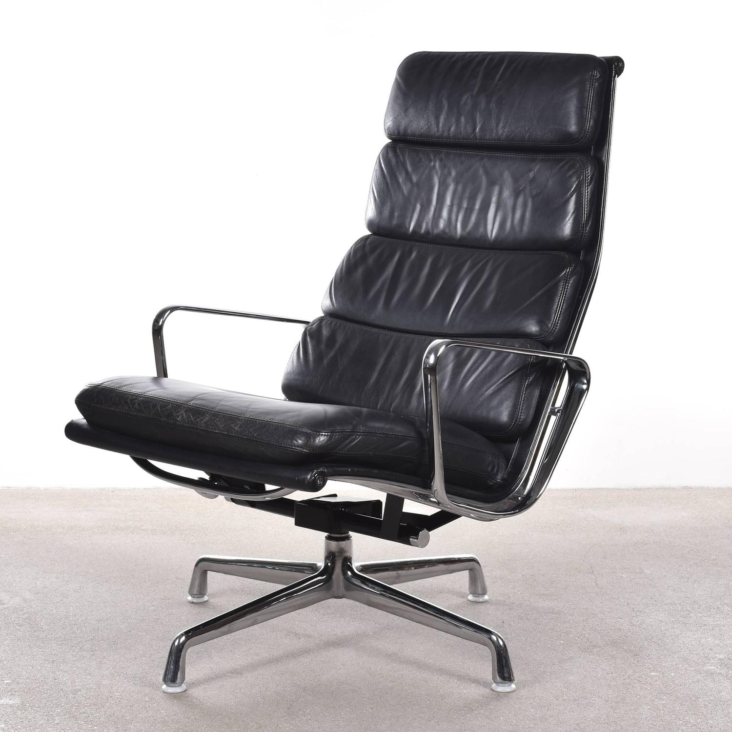 eames ea222 and ea223 lounge soft pad herman miller vitra chair at