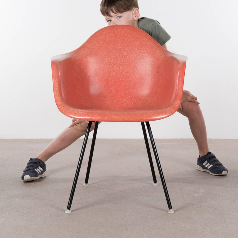 Mid-Century Modern Eames Salmon Dax Dining Chair for Herman Miller, 1958 For Sale