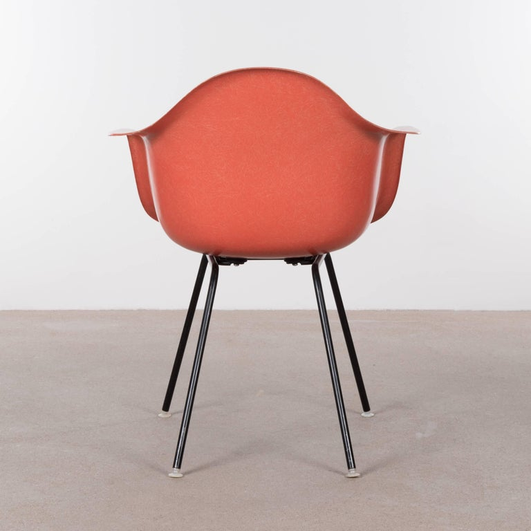 Mid-20th Century Eames Salmon Dax Dining Chair for Herman Miller, 1958 For Sale