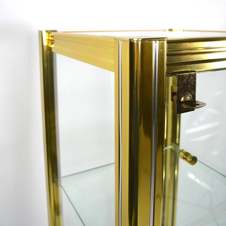 Mid-Century Modern Midcentury Italian Brass Showcase For Sale