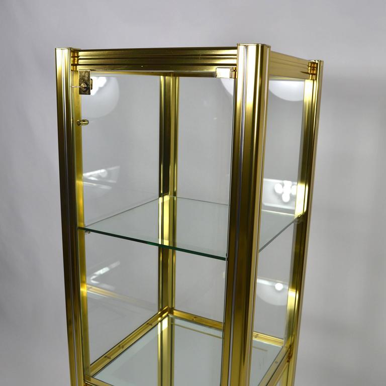 Midcentury Italian Brass Showcase For Sale 3