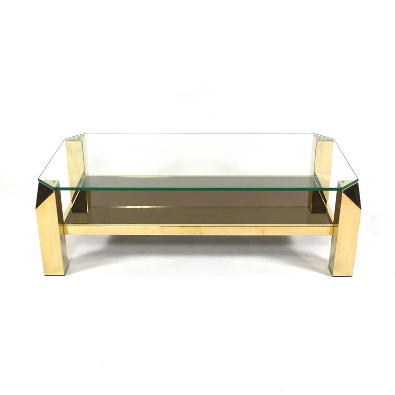 Gold Plated Coffee Table: Belgo Chrom 23-Carat Gold Plated Willy Rizzo (Style