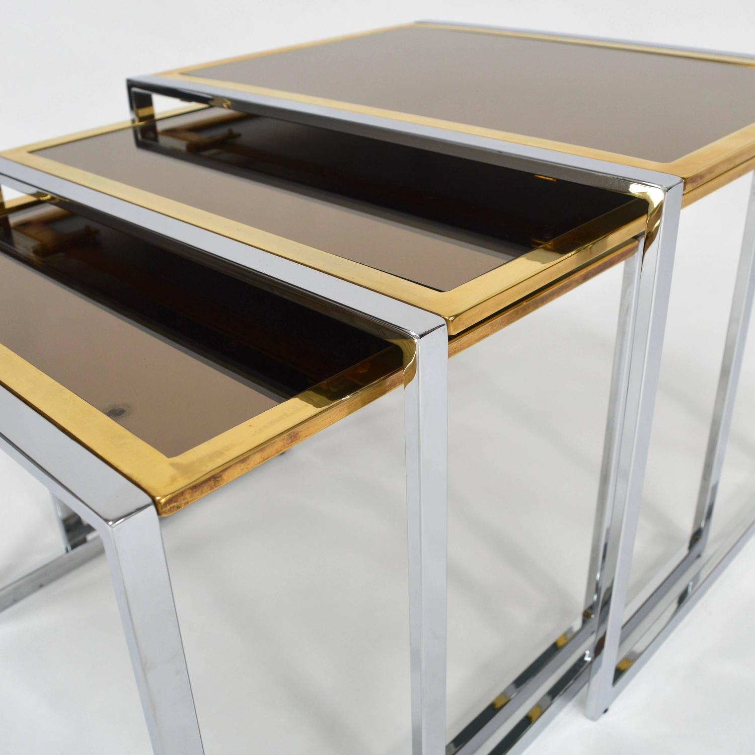 Set Of Willy Rizzo Nesting Tables Italy 1970s For Sale At 1stdibs. Full resolution  photo, nominally Width 1500 Height 1500 pixels, photo with #987833.