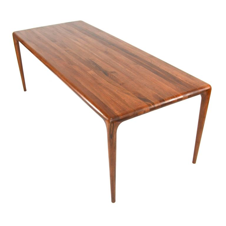 Artisan collection dining table in european walnut for