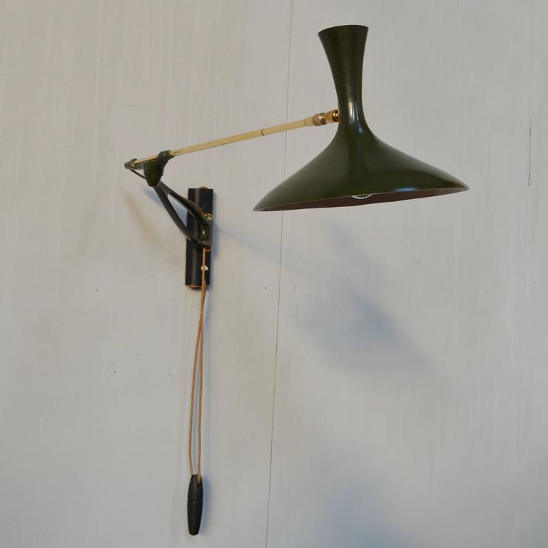 Wall Lamps Germany : Cosack Rare Telescope Wall Lamp by Cosack Leuchten, Germany, 1950s For Sale at 1stdibs