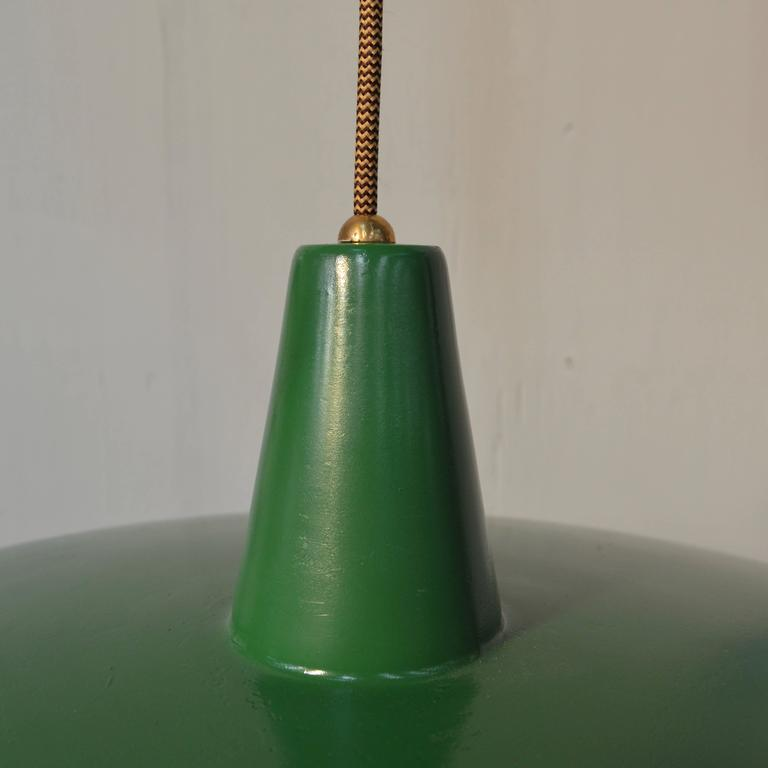 Mid-20th Century Stilnovo Pendant Counter Balance Ceiling Lamp, Italy, 1950s