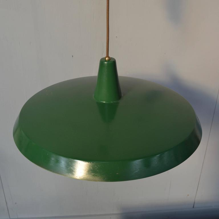 Stilnovo Pendant Counter Balance Ceiling Lamp, Italy, 1950s 1
