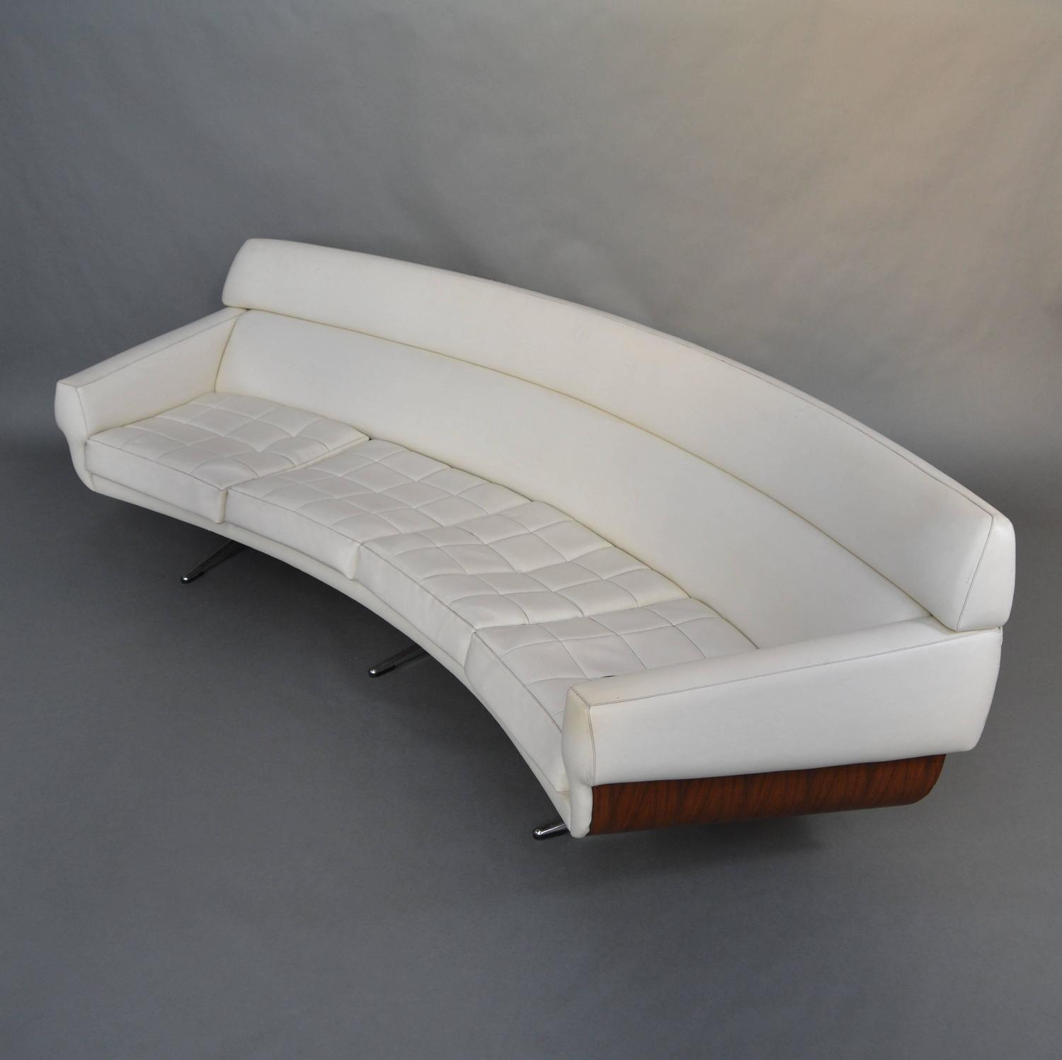 Extraordinary Curved Four Seat Sofa by Martin Stoll Germany 1960s For Sale at 1stdibs