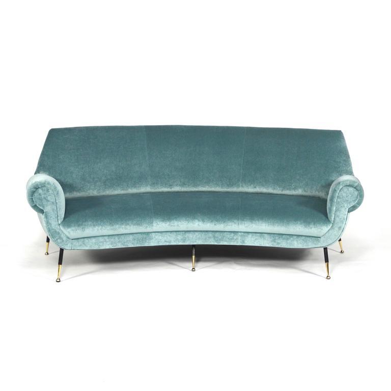 gigi radice curved sofa by minotti  italy  1950s for sale