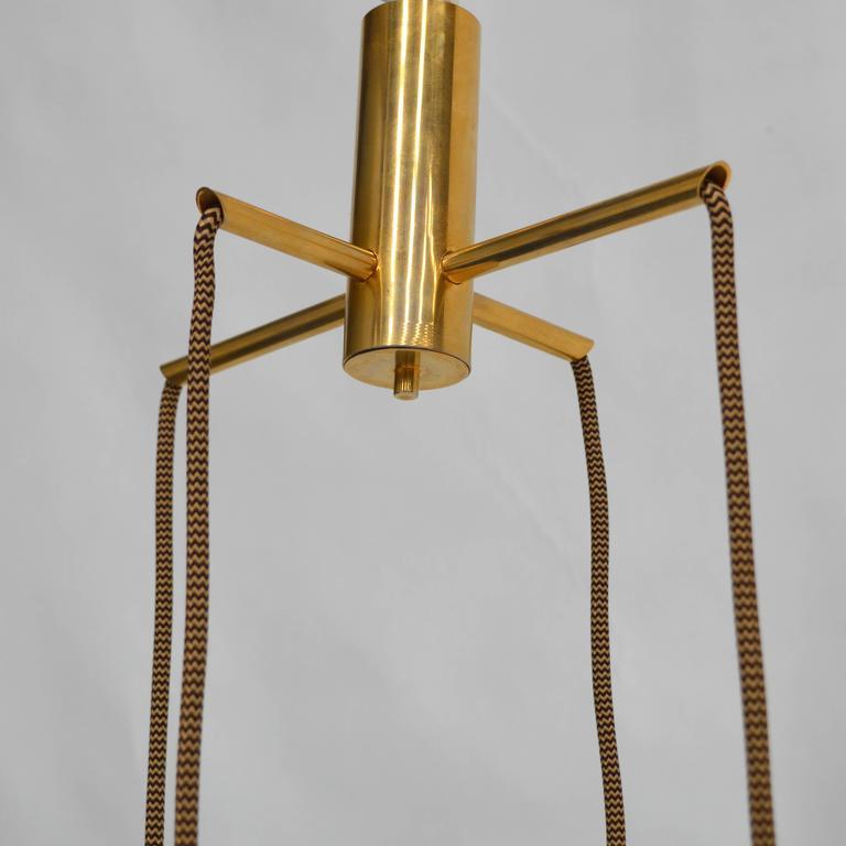 Brass Very Rare Flavio Poli 'Cube' Pendant Lamp for Seguso, Italy, 1950s For Sale