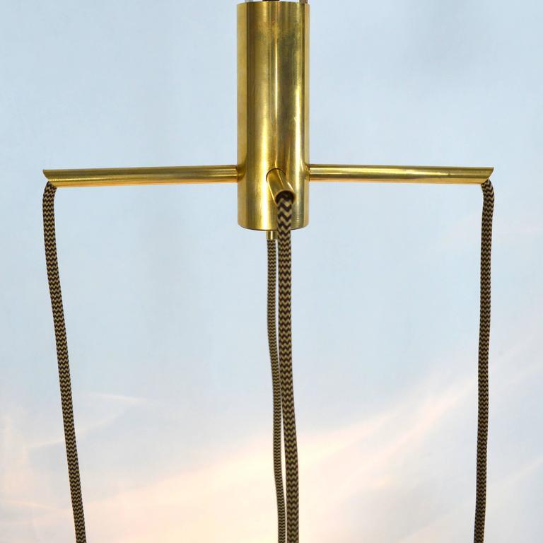 Very Rare Flavio Poli 'Cube' Pendant Lamp for Seguso, Italy, 1950s For Sale 1