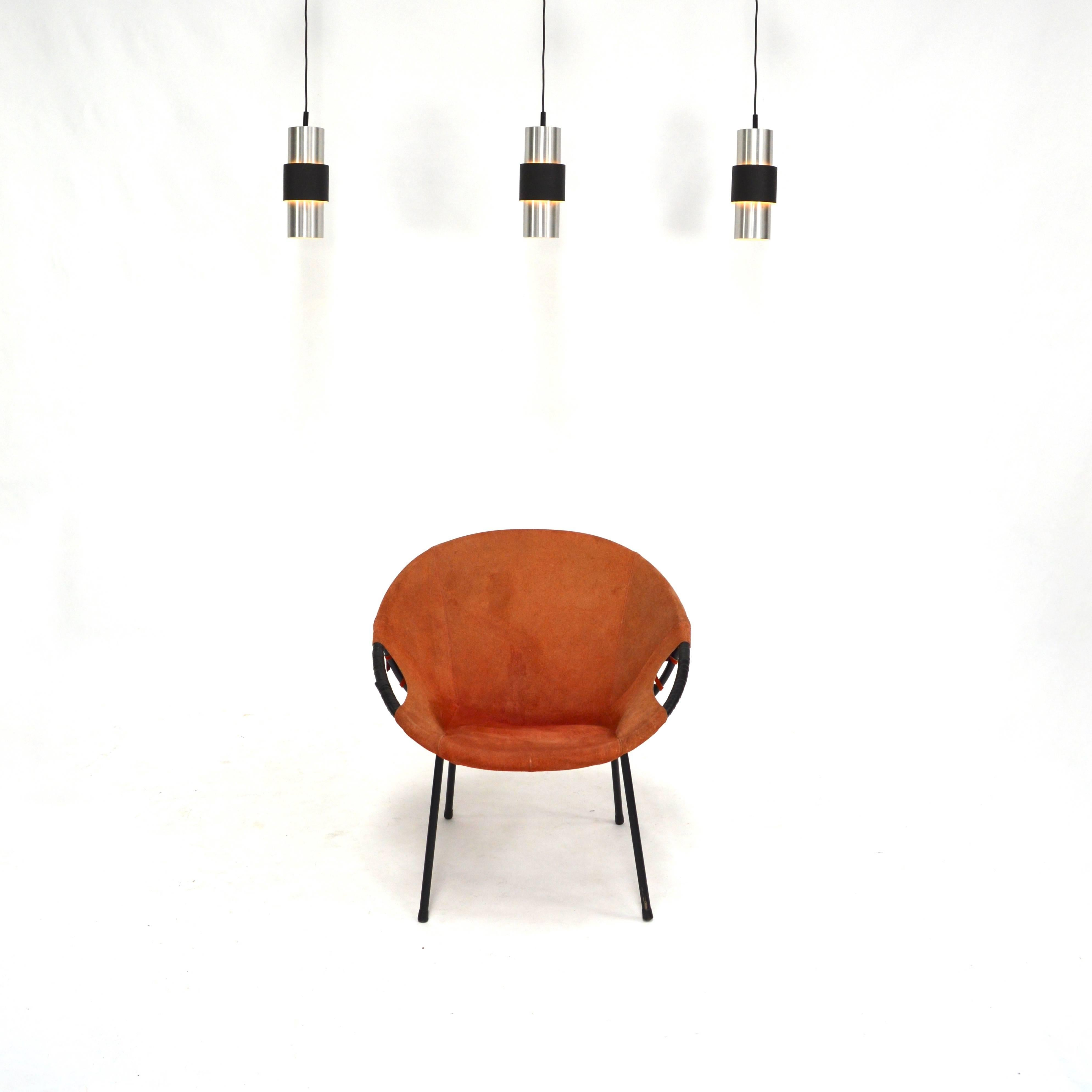 Mid Century Modern Circle Chair By Lusch And Co, Germany, 1960s For Sale