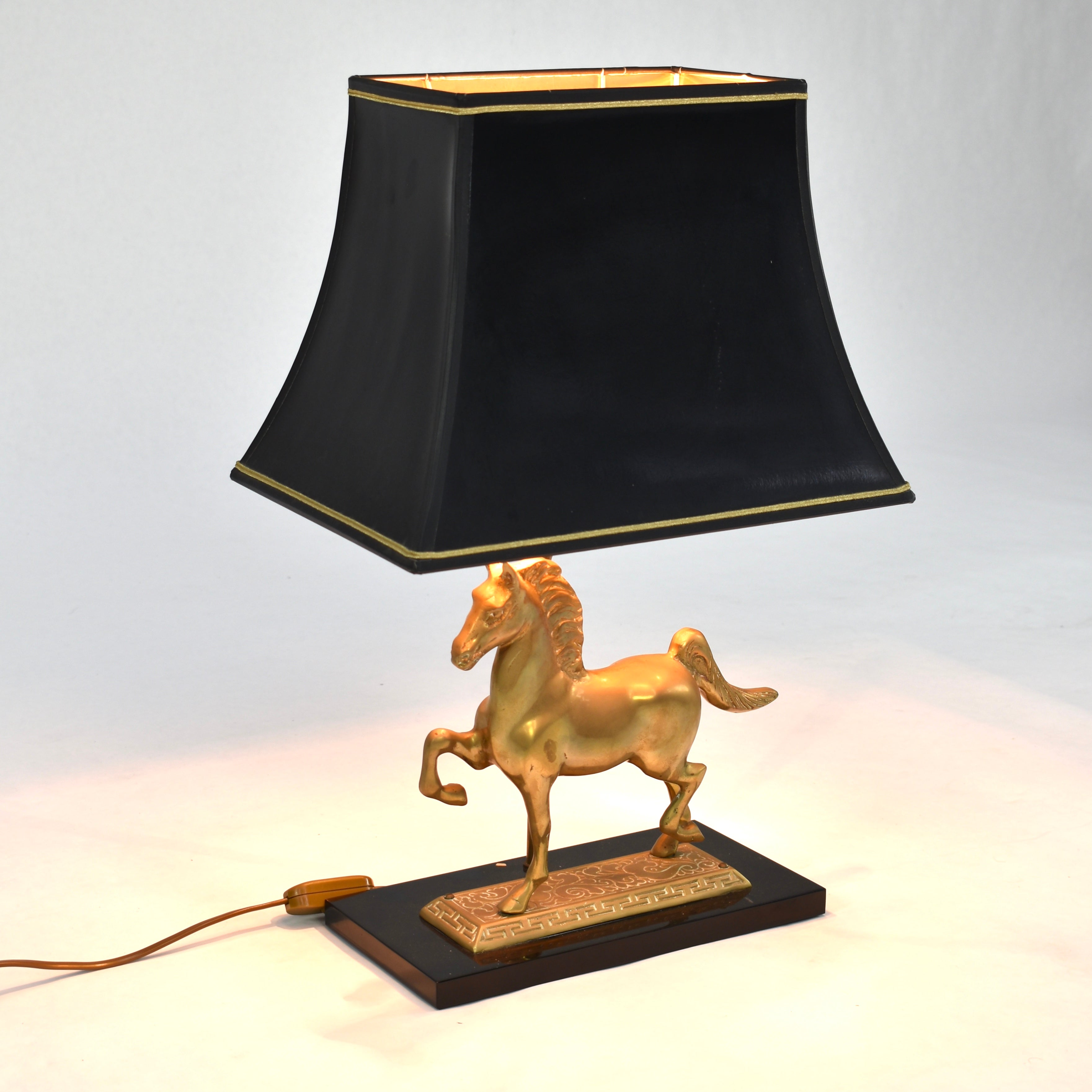 Brass Horse Table Lamp France