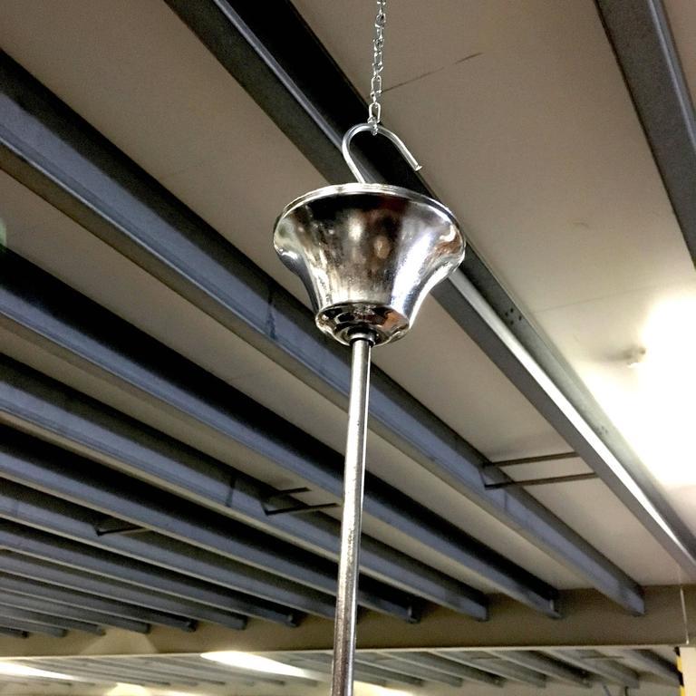 Pair of Midcentury Italian Murano Glass Pendant Lamps, 1950s-1960s For Sale 2