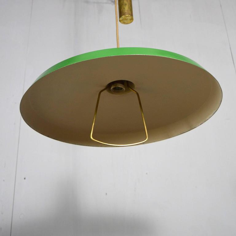 Stilnovo Pendant Counter Balance Ceiling Lamp, Italy, 1950s 2