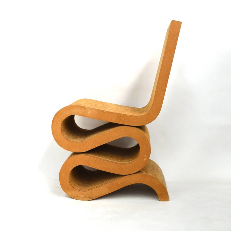 frank gehry wiggle chair for sale at 1stdibs. Black Bedroom Furniture Sets. Home Design Ideas