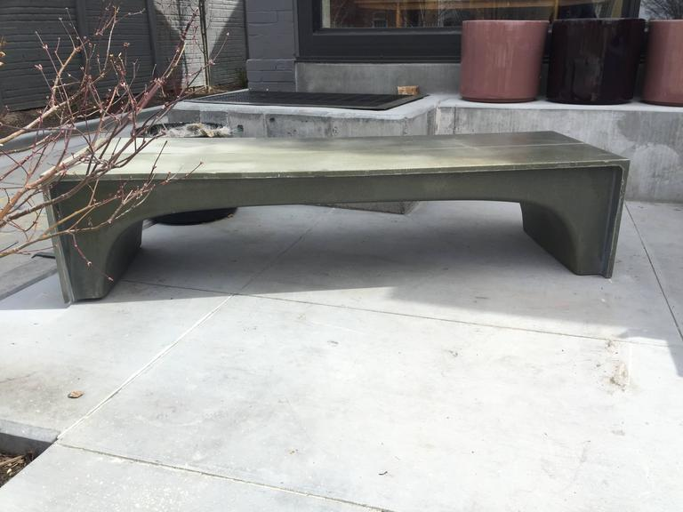 Mid-Century Vintage Stone and Fiberglass Architectural Bench In Excellent Condition For Sale In Salt Lake City, UT