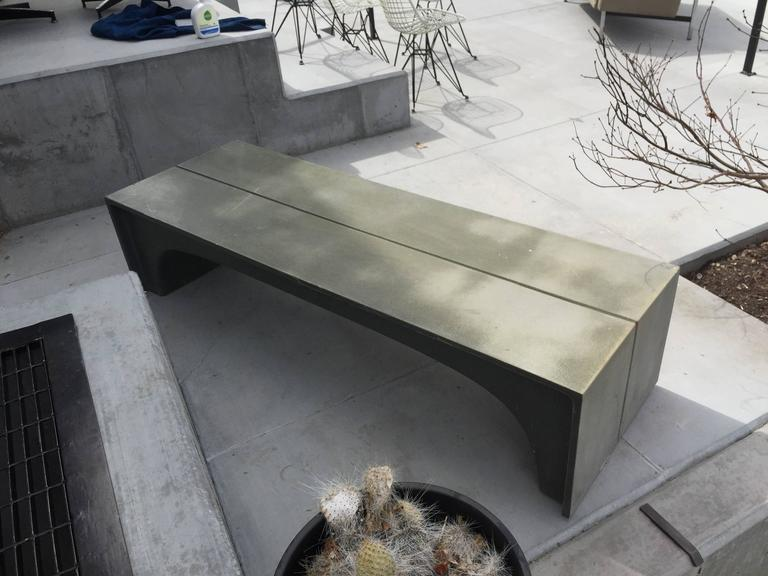 Mid-20th Century Mid-Century Vintage Stone and Fiberglass Architectural Bench For Sale