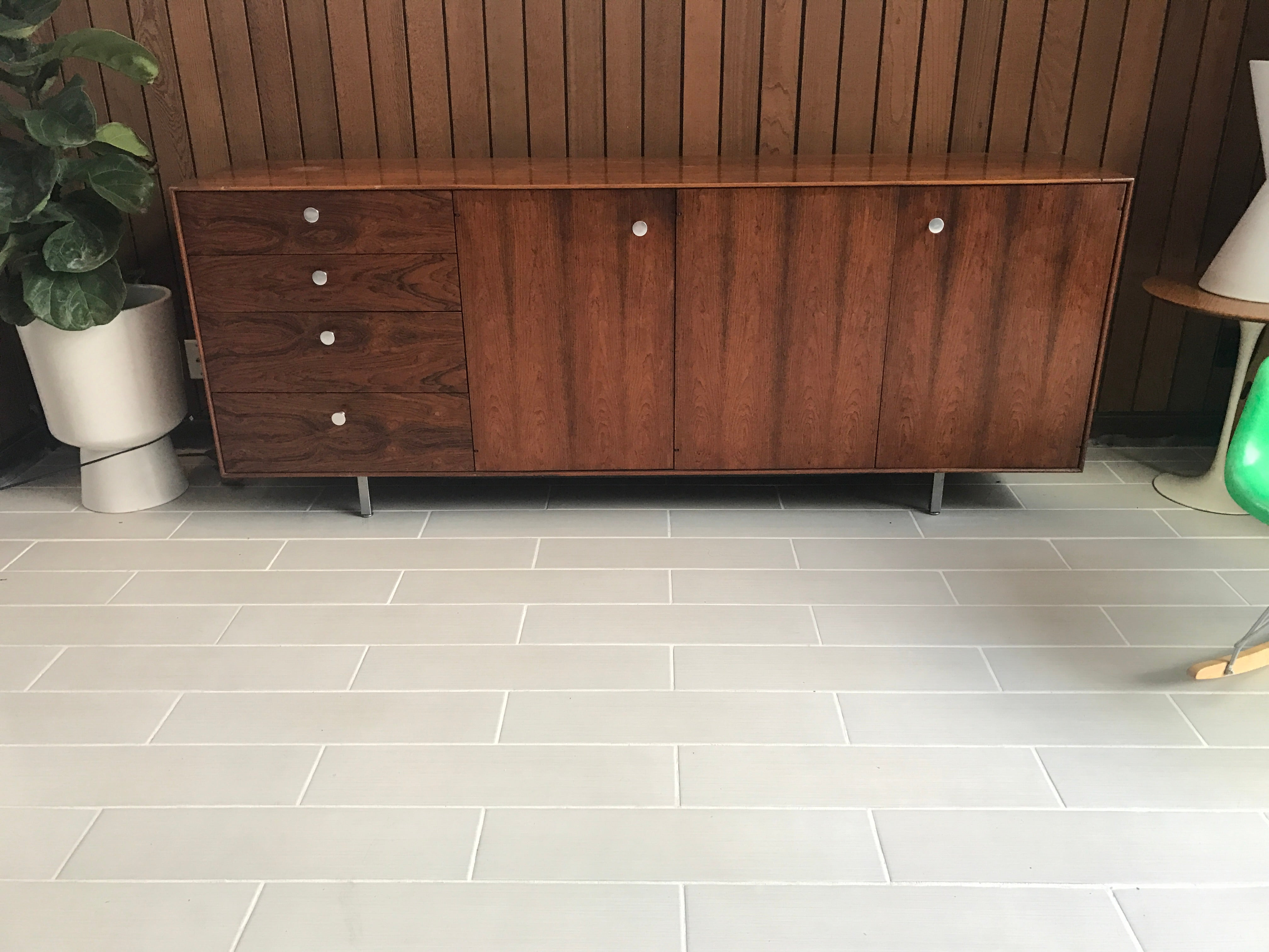 Large George Nelson Rosewood Thin Edge Credenza Sideboard Cabinet Buffet