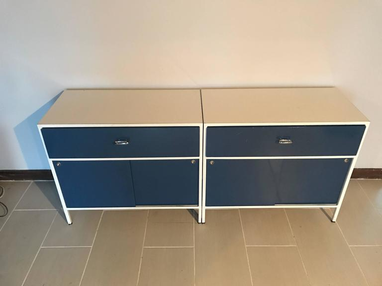 Pair of George Nelson Steel Frame Cabinets for Herman Miller 2