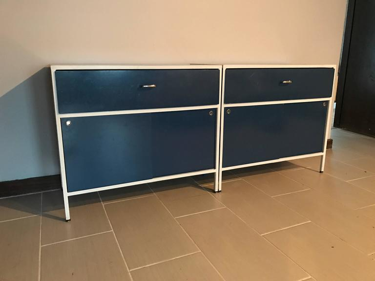 Pair of George Nelson Steel Frame Cabinets for Herman Miller 3