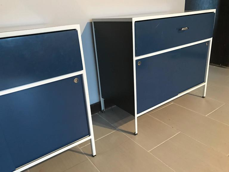 Pair of George Nelson Steel Frame Cabinets for Herman Miller 4