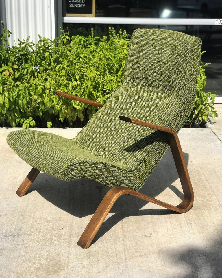 Stunning vintage Eero Saarinen grasshopper chair  in amazing condition  Upholstered in Maharam textile.