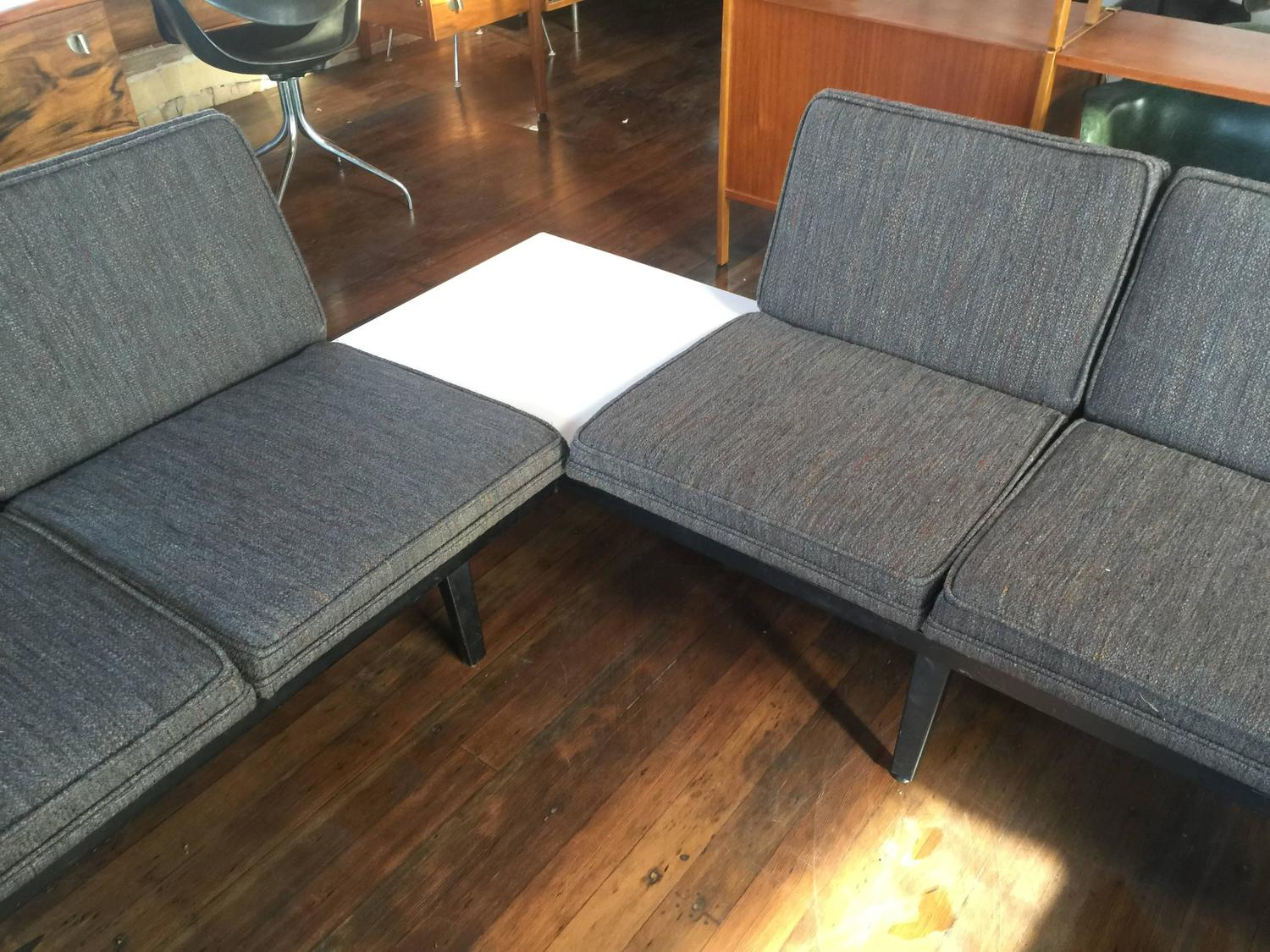 George Nelson Herman Miller Steel Frame Sofa Sectional W