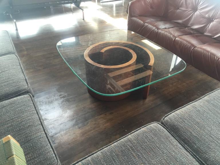 Kagan Coffee Table.Vladimir Kagan Snail Coffee Table With Original Green Glass