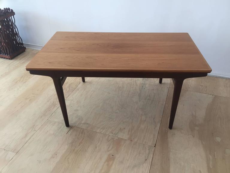 teak expanding dining table by johannes andersen for uldum