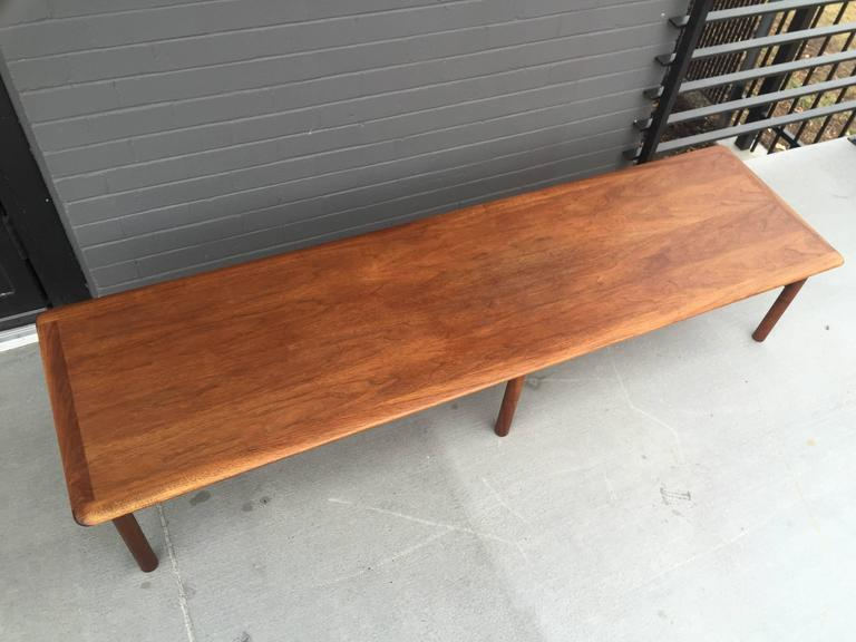 Folke Ohlsson For DUX Long Walnut Coffee Table At 1stdibs