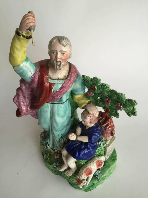 English 19th Century Staffordshire Pottery Figure 4