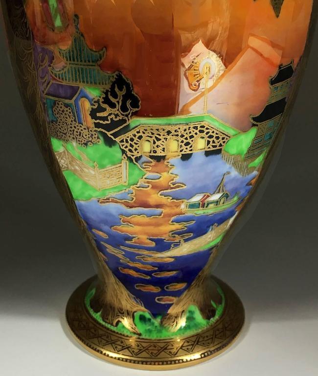 Wedgwood Porcelain Art Deco Fairyland Lustre Willow Vase 2