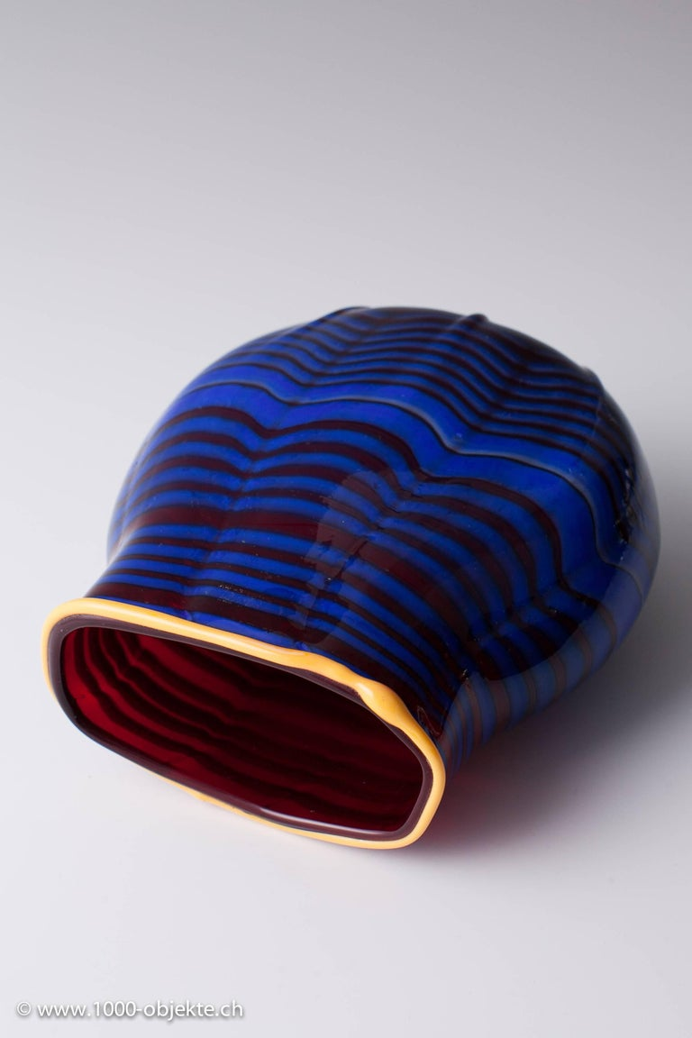 Mid-Century Modern Vase Dale Chihuly, 1993 Toppiece, Unique, Signed For Sale