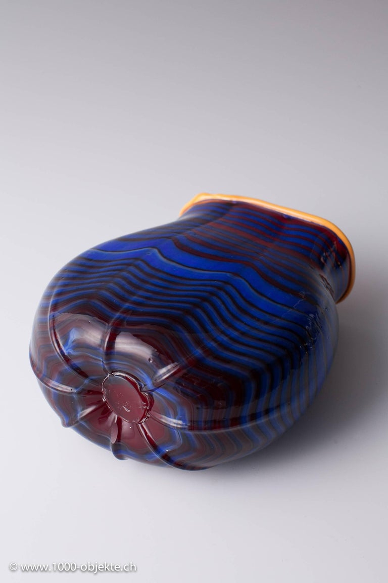Italian Vase Dale Chihuly, 1993 Toppiece, Unique, Signed For Sale