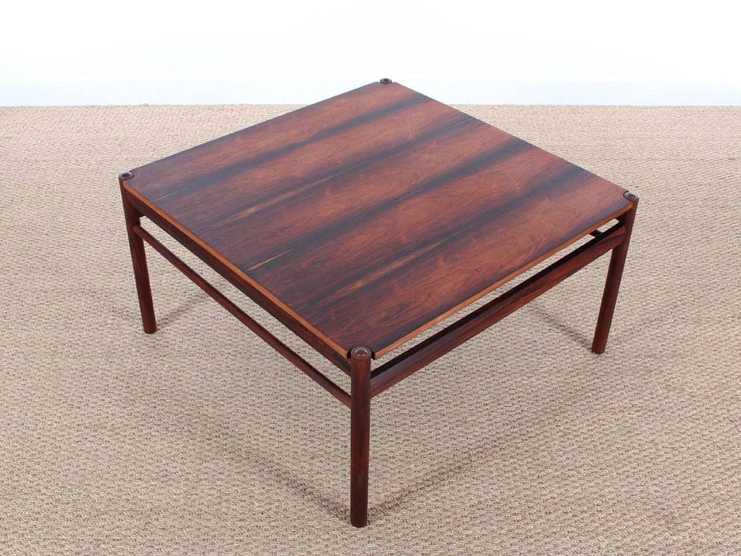 Mid Century Modern Scandinavian Coffee Table In Rio Rosewood By Ole