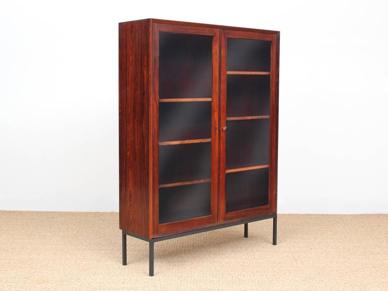 Mid-20th Century Mid-Century Modern Danish Vitrine Bookcase in Rosewood For Sale