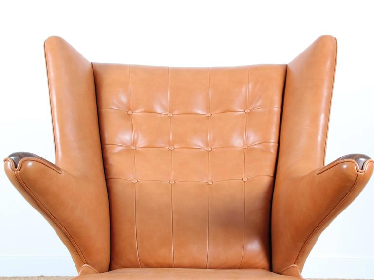 Leather Mid-Century Modern Danish Lounge Chair