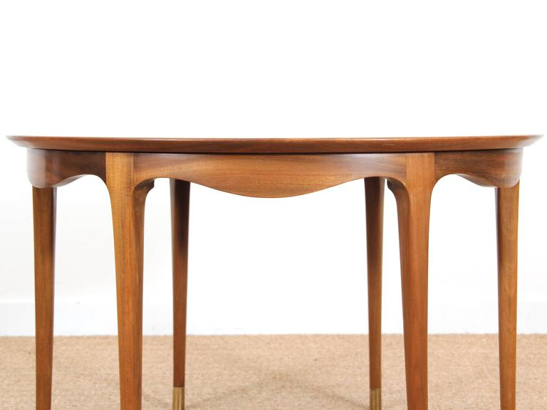 Mid-Century Modern Large Coffee Table in Walnut by Ole Wanscher In Excellent Condition For Sale In Courbevoie, FR