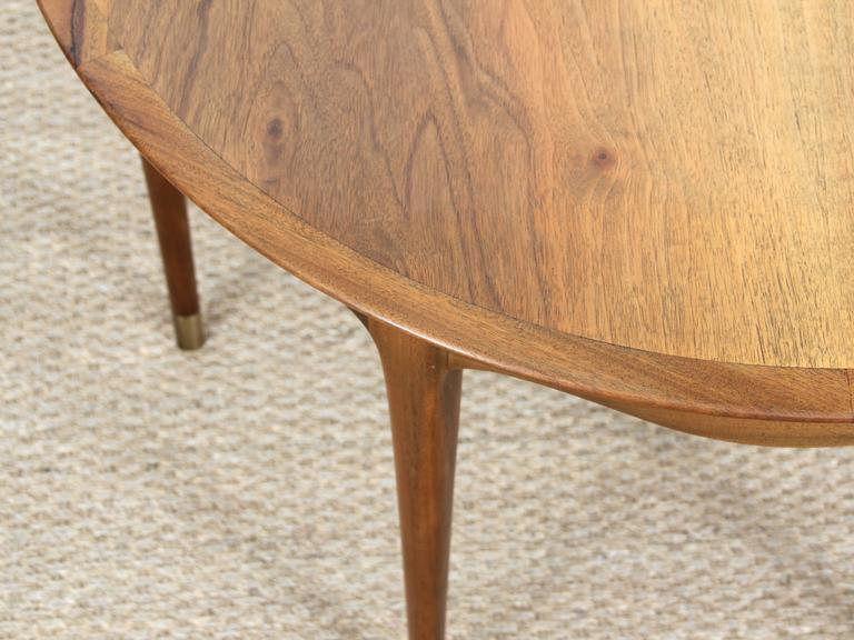 Mid-Century Modern Large Coffee Table in Walnut by Ole Wanscher For Sale 2