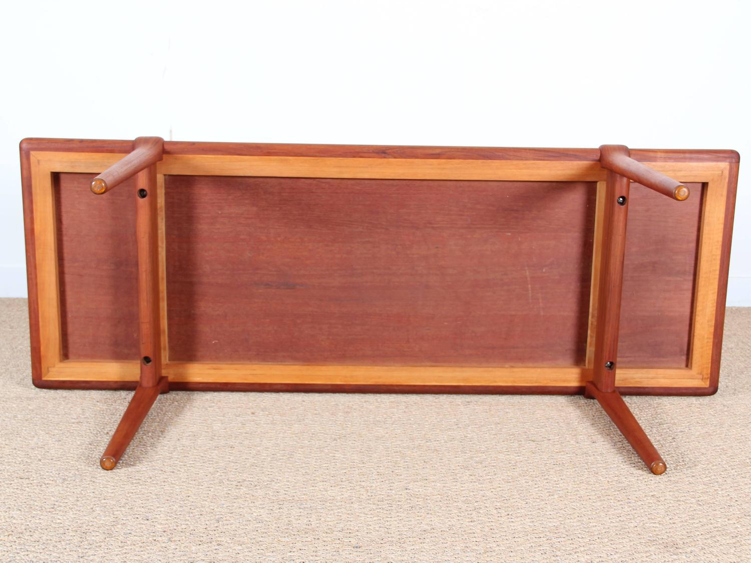 Danish mid century modern coffee table in teak at 1stdibs Modern teak coffee table