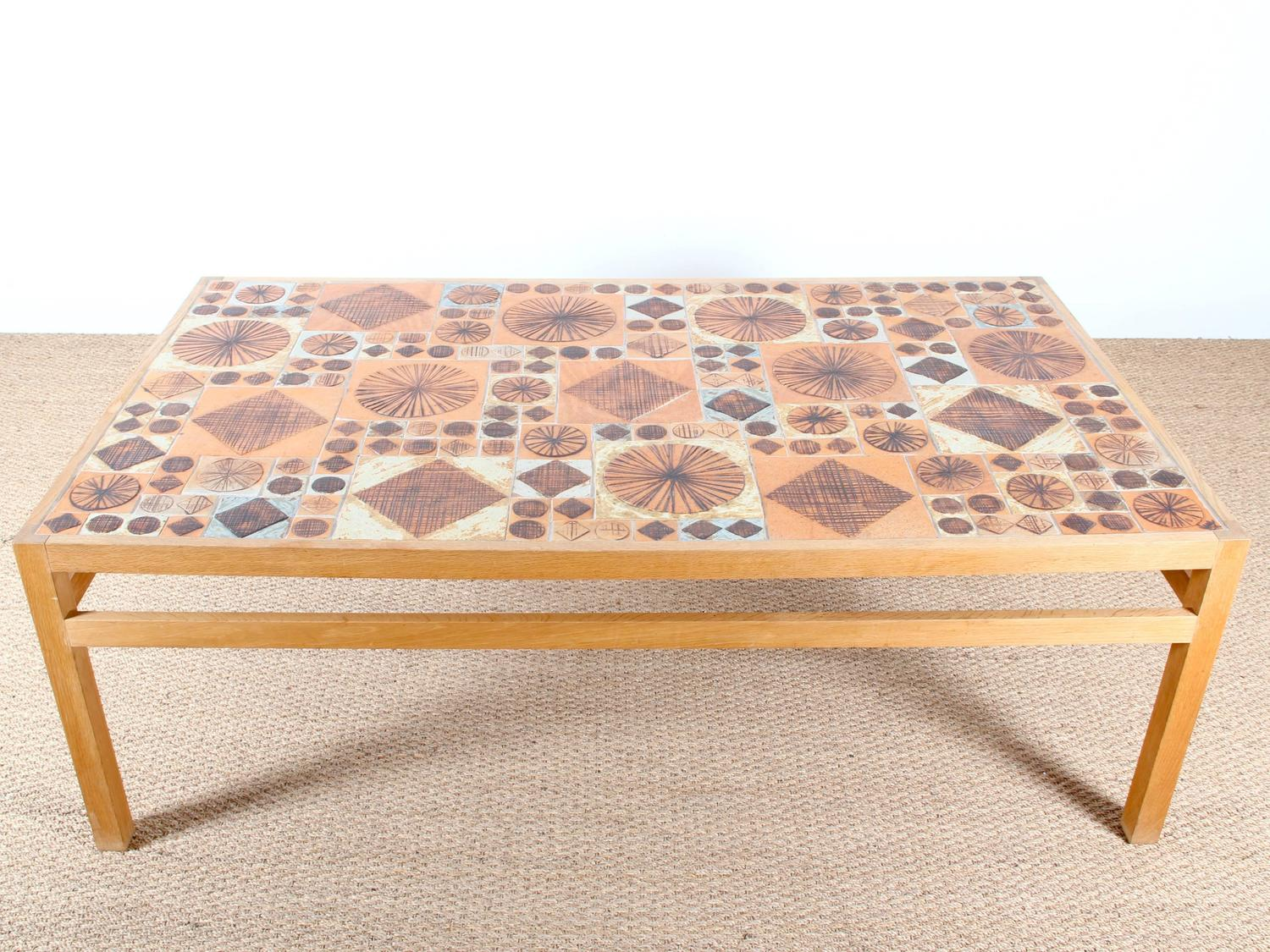 Ceramic Tile Top Coffee Table Designed By Tue Poulsen For Sale At 1stdibs