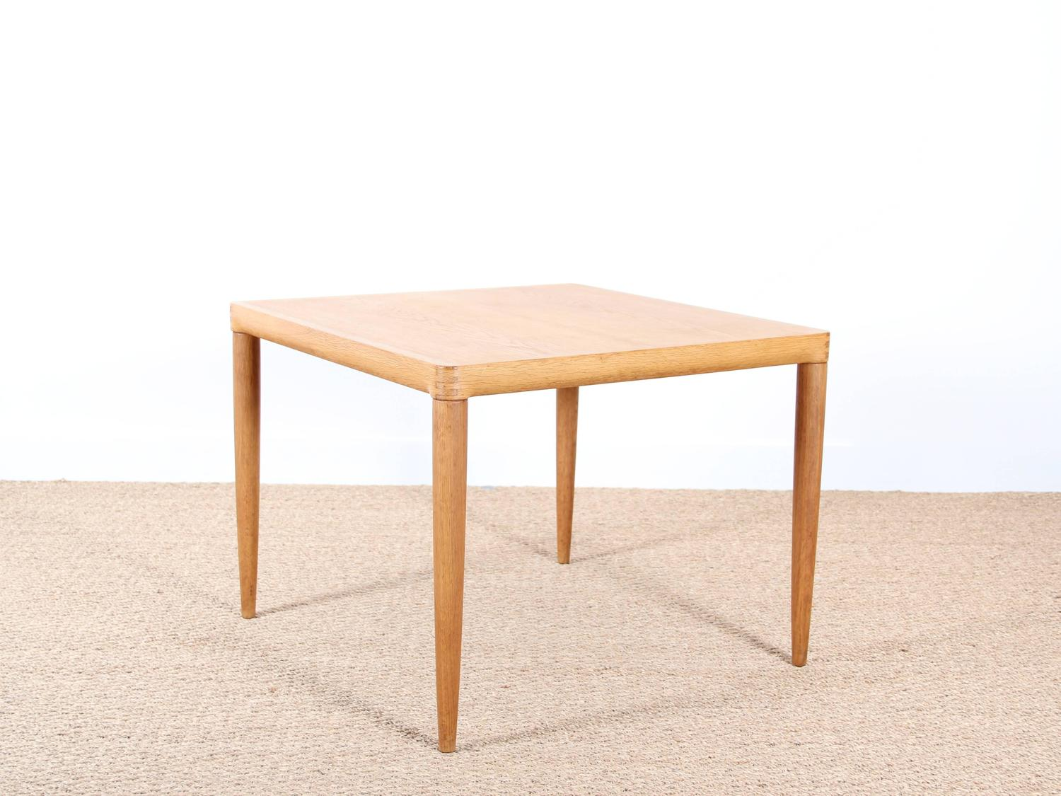Square Coffee Table In Oak For Sale At 1stdibs