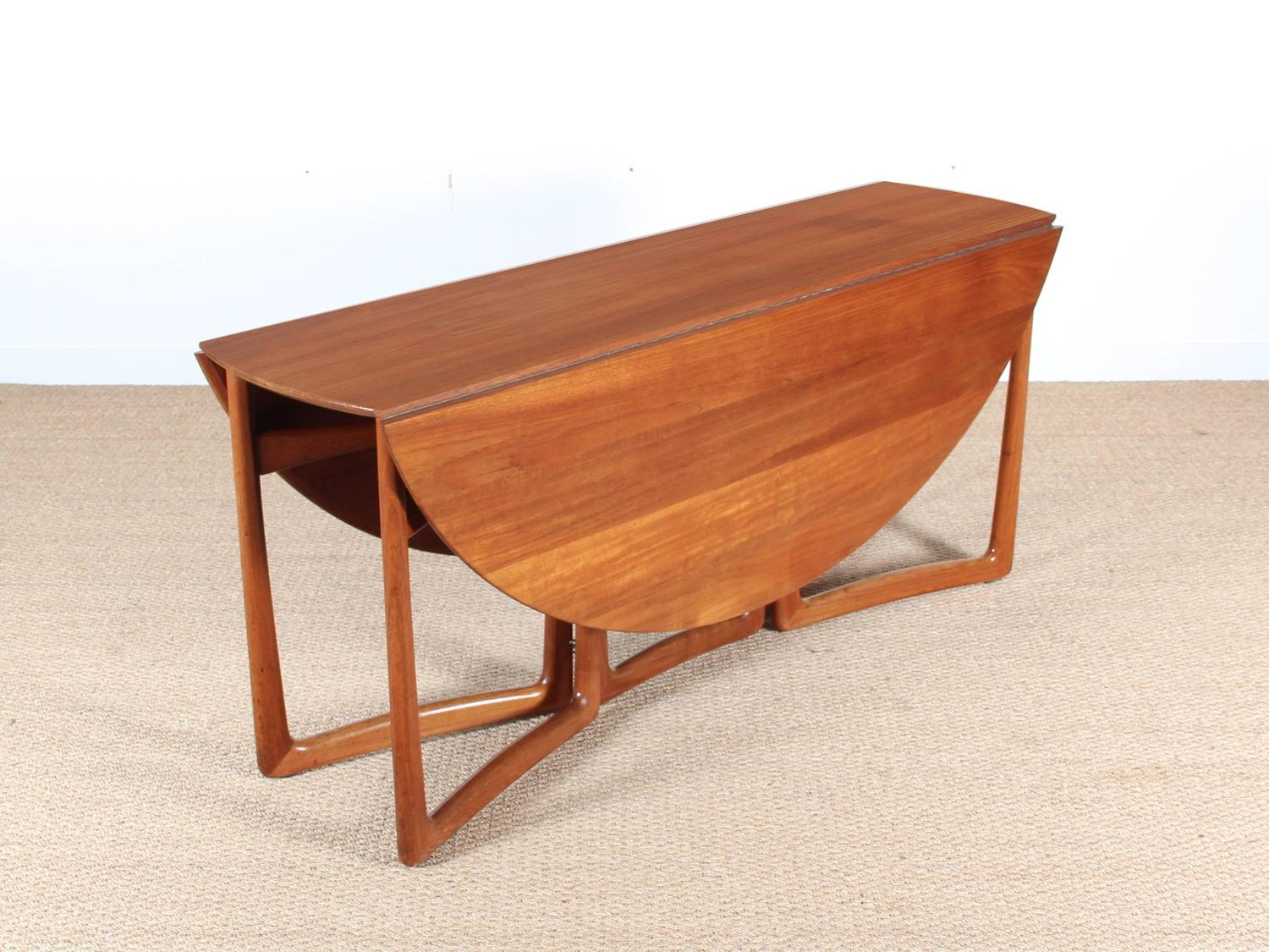 Mid Century Modern Teak Folding Dining Table By Hvidt And
