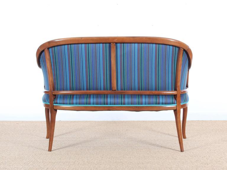 Danish Mid-Century Modern Scandinavian Sofa Two Seats in Mahogany For Sale