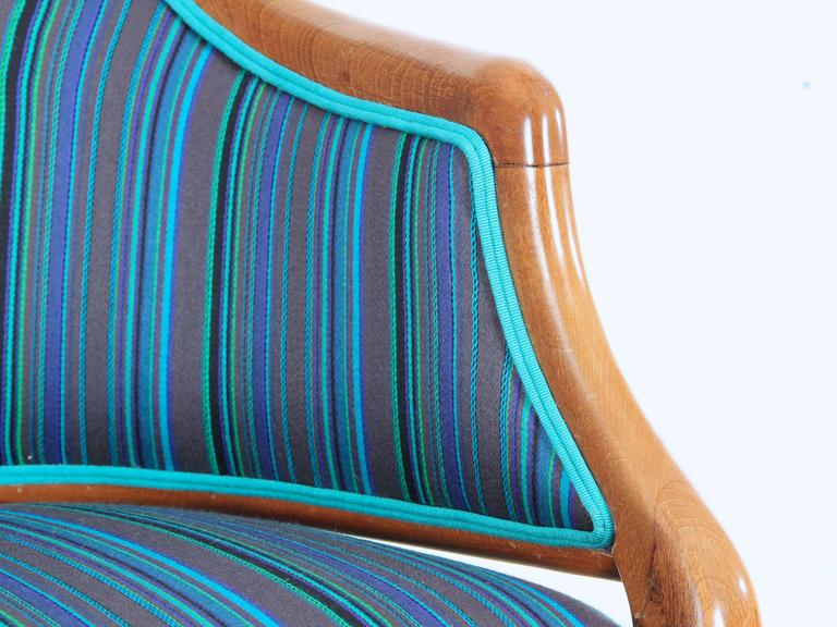 Mid-Century Modern Scandinavian Sofa Two Seats in Mahogany For Sale 3