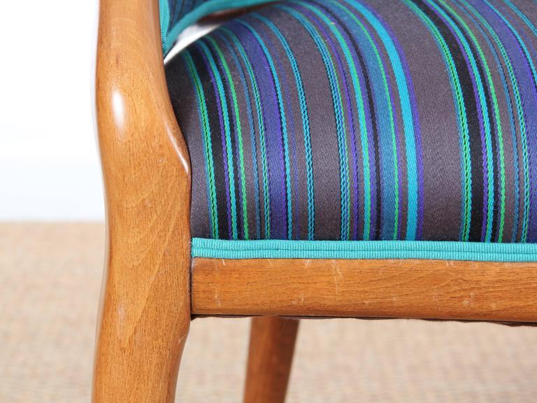Mid-Century Modern Scandinavian Sofa Two Seats in Mahogany For Sale 4